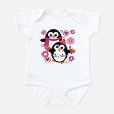 Personalized Hip Penguins Infant Bodysuit