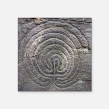 "LabyrinthSquareForCP Square Sticker 3"" x 3"""