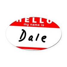 Dale Oval Car Magnet