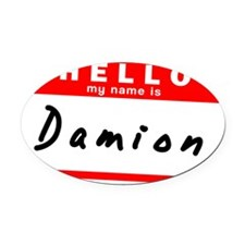 Damion Oval Car Magnet