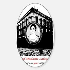 mmltshirt black and white Sticker (Oval)