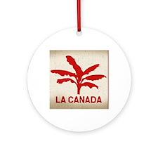 la-canada-flag-OV Round Ornament