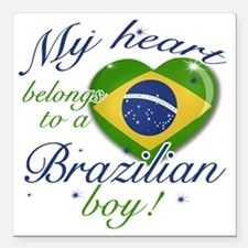 "brazil Square Car Magnet 3"" x 3"""