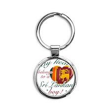 sri lankan Round Keychain