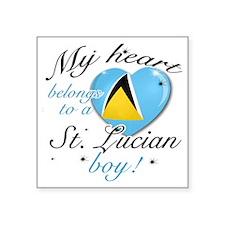 "st. lucian Square Sticker 3"" x 3"""