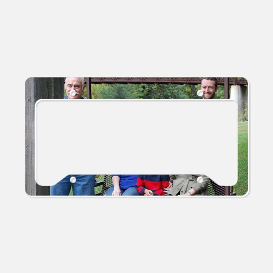 reed family photo License Plate Holder