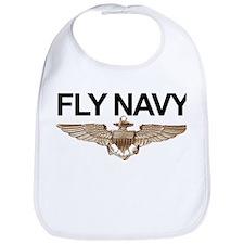 Fly Navy Wings Bib