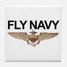 Fly Navy Wings Tile Coaster