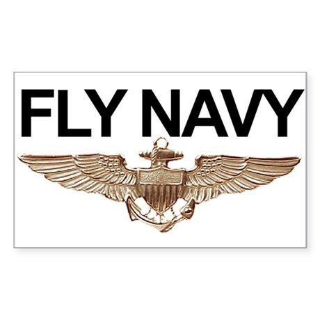 FLY NAVY Rectangle Sticker