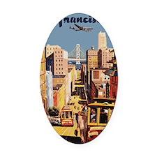 sanfranciscoOriginal1postcard.gif Oval Car Magnet