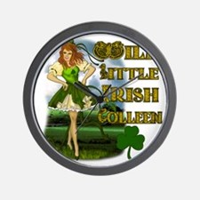 WILD-LITTLE-IRISH-COLLEEN Wall Clock