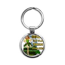 WILD-LITTLE-IRISH-COLLEEN Round Keychain