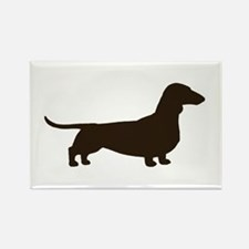 Dachshund Silhouette Rectangle Magnet