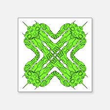 "cloverbot1 Square Sticker 3"" x 3"""
