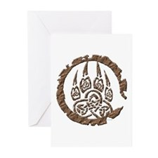 Celtic Stone: Bear Paw Greeting Cards (Package of