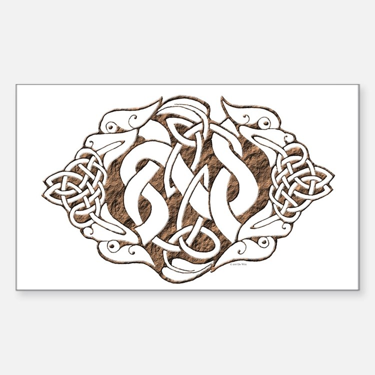 Celtic Stone: Guardian Dogs Rectangle Decal