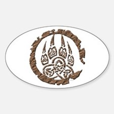 Celtic Stone: Bear Paw Oval Decal