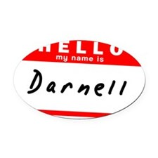 Darnell Oval Car Magnet