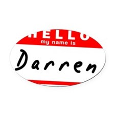 Darren Oval Car Magnet