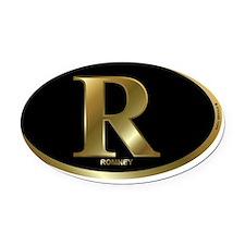 gold r mitt romney rec 1 Oval Car Magnet