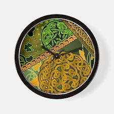 CELTIC-KNOTWORK-IRISH-shower_curtain Wall Clock