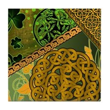 CELTIC-KNOTWORK-IRISH-shower_curtain Tile Coaster