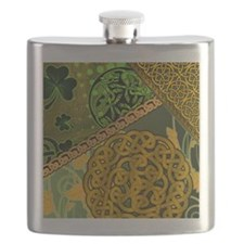 CELTIC-KNOTWORK-IRISH-shower_curtain Flask