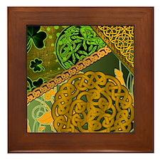 CELTIC-KNOTWORK-IRISH-shower_curtain Framed Tile