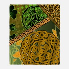 CELTIC-KNOTWORK-IRISH-shower_curtain Throw Blanket