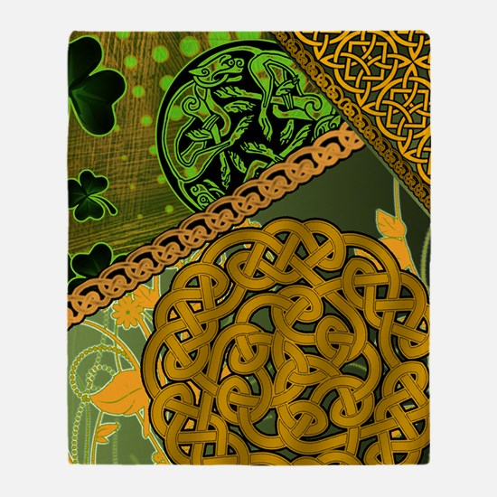 CELTIC-KNOTWORK-IRISH-shower_curtain Throw Blanket