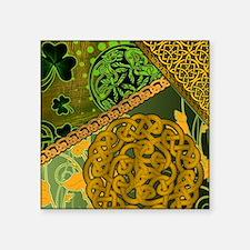 "CELTIC-KNOTWORK-IRISH-showe Square Sticker 3"" x 3"""