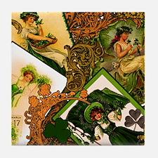 LADIES-VINTAGE-IRISHshower_curtain Tile Coaster