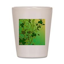 IRISH-SHAMROCK-FILLIGREE-shower_curtain Shot Glass