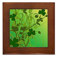 IRISH-SHAMROCK-FILLIGREE-shower_curtai Framed Tile