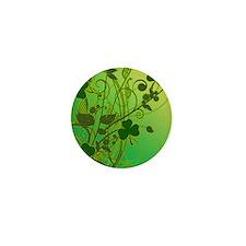 IRISH-SHAMROCK-FILLIGREE-shower_curtai Mini Button
