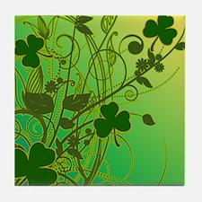 IRISH-SHAMROCK-FILLIGREE-shower_curta Tile Coaster