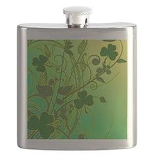 IRISH-SHAMROCK-FILLIGREE-shower_curtain Flask