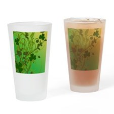 IRISH-SHAMROCK-FILLIGREE-shower_cur Drinking Glass