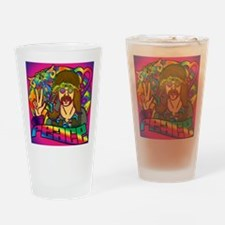 PSYCHEDELIC-PEACE-shower_curtain Drinking Glass