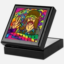 PSYCHEDELIC-PEACE-shower_curtain Keepsake Box