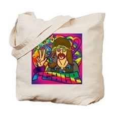 PSYCHEDELIC-PEACE-shower_curtain Tote Bag