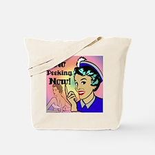 NO-PEEKING-NOW-RETRO-shower_curtain Tote Bag