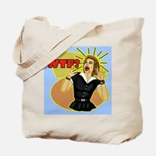 WTF-RETRO-50S-shower_curtain Tote Bag