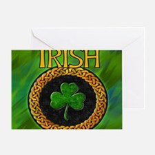 CELTIC-IRISH-SHAMROCK-MOUSEPAD Greeting Card