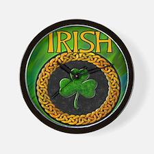 CELTIC-IRISH-SHAMROCK-MOUSEPAD Wall Clock
