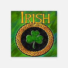"CELTIC-IRISH-SHAMROCK-MOUSE Square Sticker 3"" x 3"""