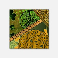 "IRISH-CELTIC-KNOTWORK-MOUSE Square Sticker 3"" x 3"""