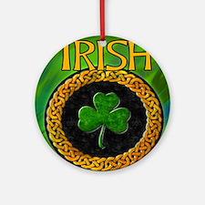 CELTIC-IRISH-SHAMROCK-MOUSEPAD Round Ornament