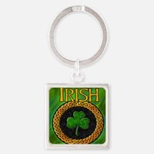 CELTIC-IRISH-SHAMROCK-MOUSEPAD Square Keychain