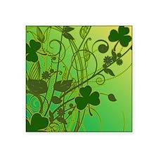 "iRISH-SHAMRICK-FILLIGREE-MO Square Sticker 3"" x 3"""